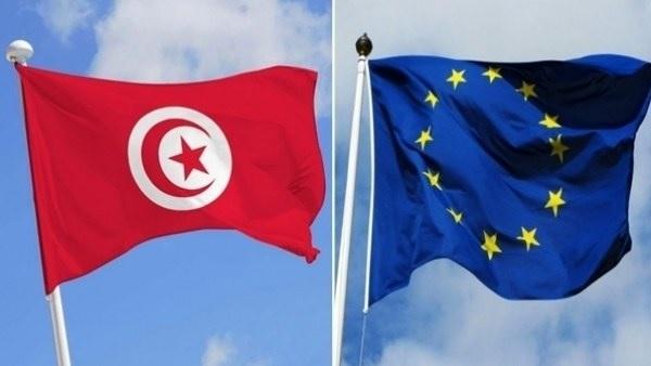 Drapeaux Tunisie Union Européennee