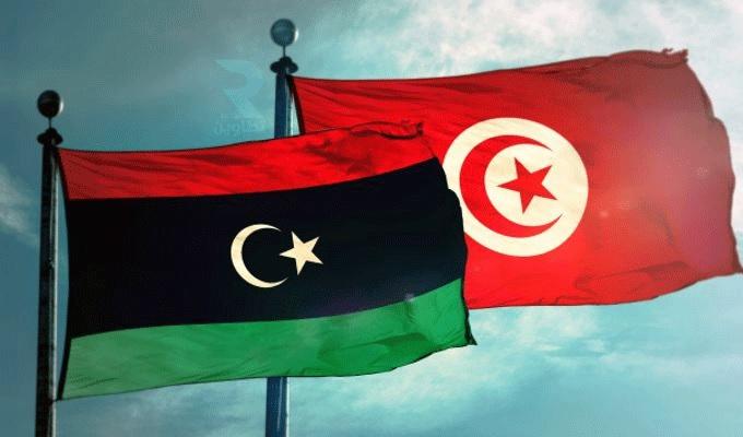 Libya Tunisia flags